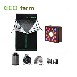 Eco Farm 3*3FT (36*36 Inch/ 90*90 CM) Essential DIY LED Grow Package Indoor Grow Tent for 2 Plants