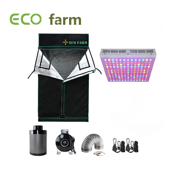 Eco Farm 3*3FT (36*36 Inch/ 90*90 CM) Hydroponics Complete Grow Room Tent Kit For 2 Plants