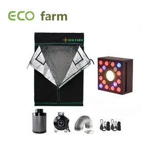 Eco Farm 4*4FT (48*48 Inch/ 120*120 CM) Hydroponics Complete Grow Room Full Setup For 4 Plants