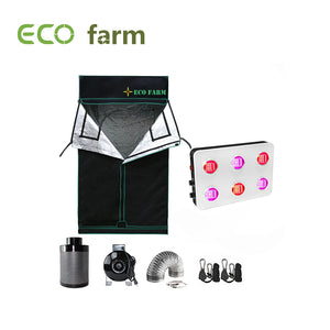 Eco Farm 4*4FT (48*48 Inch/ 120*120 CM) LED DIY Grow Package Hydroponics Indoor Planting System for 4 Plants-GS600