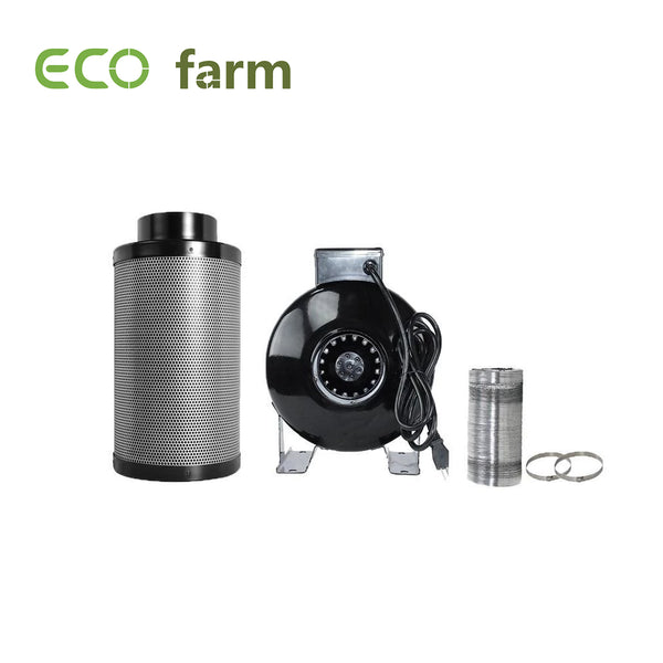 "ECO Farm 4"" Duct Ventilation Fan And Filter Hydroponic Kit"
