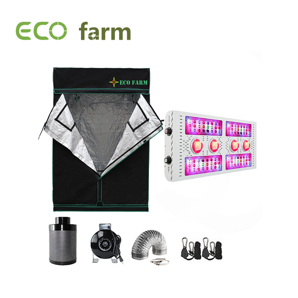 Eco Farm 5*5FT (60*60 Inch/ 150*150 CM) Essential LED Grow Package For 6 Plants-X8