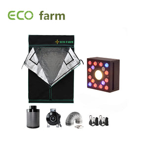 Eco Farm 5*5FT (60*60 Inch/ 150*150 CM) Hydroponics Grow Room Tent Flower Vegetable Planting System For 6 Plants