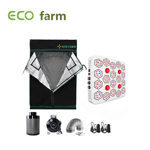 Eco Farm A1660 Series 5*5FT (60*60 Inch/ 150*150 CM) Hydroponic Complete Grow Tent Kit For 6 Plants