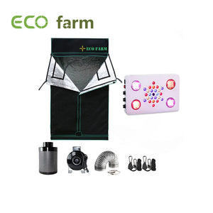 Eco Farm C525 Series 4*4FT (48*48 Inch/ 120*120 CM) Essential Hydroponic DIY Grow Package Setup Kits For 4 Plants
