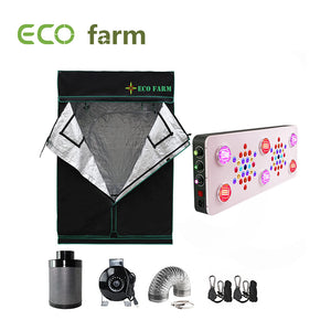 Eco Farm C850 Series 5*5FT (60*60 Inch/ 150*150 CM) Essential LED Indoor Gardening Greenhouse Kit For 6 Plants