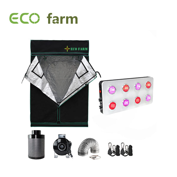 Eco Farm GS800 Series 5*5FT (60*60 Inch/ 150*150 CM) Hydroponics Complete Grow Room Tent Full Setup Kit For 6 Plants