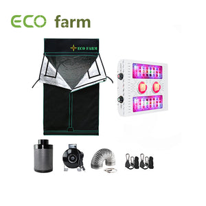 Eco Farm X4 Series 3*3FT (36*36 Inch/ 90*90 CM) Portable Hydroponics Grow Tent Kit For 2 Plants Indoor Gardening