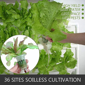 Hydroponic Grow Kit 4 Pipes 4 Layers 36 Plant Sites Food Grade System Melons