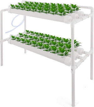 ECO Farm Vertical Farming 2 Layer 6 Pipes 54 Plant Sites Hydroponic Grow Kit Portable Equipment