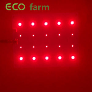 ECO Farm 30W Cree Chips Red 660nm+ Far Red 730nm Supplemental Lighting Quantum Board