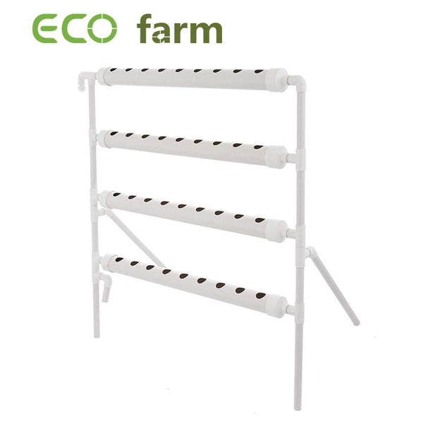 ECO Farm Vertical Farming 4 Layer 4 Pipes 36 Plant Sites Hydroponic Grow System Kit