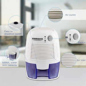 ECO Farm Mini Capacity 500ml Portable Air Conditioner Dehumidifier Machine