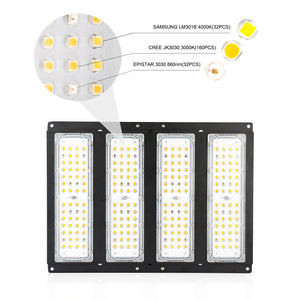 ECO Farm 200W Full Spectrum LED Grow Light With Meanwell Driver Samsung 301B CREE Chips New Upgrade