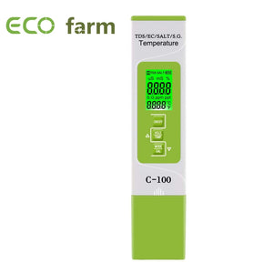 ECO Farm 5 in 1 C-100  TDS/EC/SALT/S.G./ Digital Water Quality  Temperature Monitor