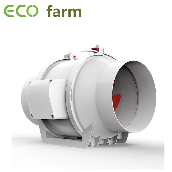 "ECO Farm 4""/6""/8"" Ventilation Exhaust In-line Duct Fan White Version"