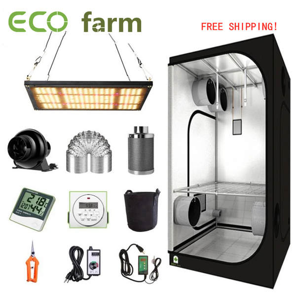 ECO Farm 2'x2' Complete Grow Tent Kit - 120W Samsung 301H Chips Quantum Board
