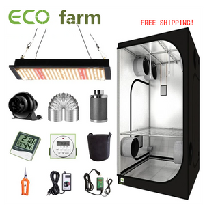 ECO Farm 2'x2' Complete Grow Tent Kit - 120W Samsung 561C Quantum Board