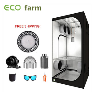 ECO Farm 3.3'x3.3' Essential Grow Tent Kit - 100W x 2 Pcs UFO Grow Light