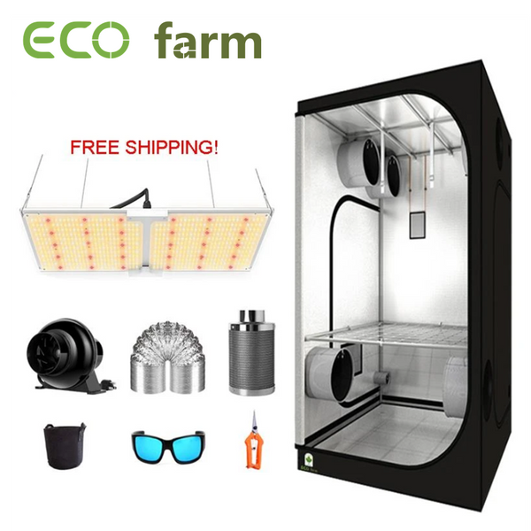 ECO Farm 3.3'x3.3' Essential Grow Tent Kit - 220W Samsung 301B Chips Waterproof Quantum Board