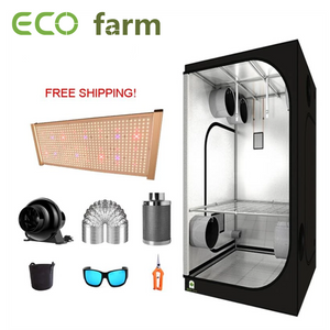 ECO Farm 3.3'x3.3' Essential Grow Tent Kit - 240W Samsung 301H UV+IR Quantum Board