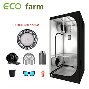 ECO Farm 3'x3' Essential Grow Tent Kit - 100W*2 UFO LED Grow Light
