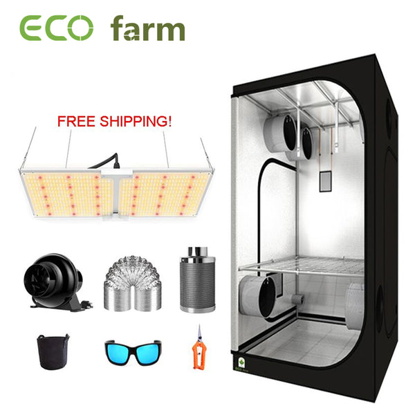 ECO Farm 3'x3' Essential Grow Tent Kit - 220W Samsung 301B Chips Waterproof Quantum Board