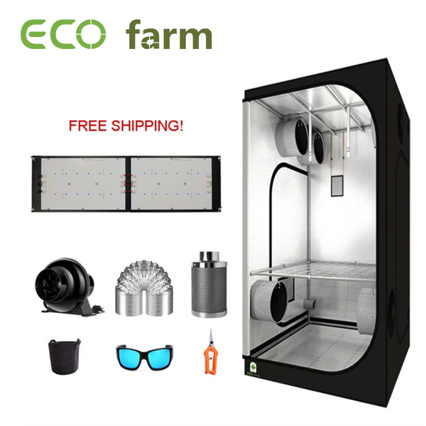 ECO Farm 3'x3' Essential Grow Tent Kit - 240W With Samsung 301H UV+IR Quantum Board