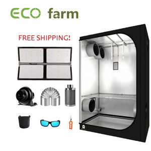 ECO Farm 5'x5' Essential Grow Tent Kit - 480W Samsung 561C Chips +UV+IR Quantum Board