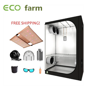 ECO Farm 5'x5' Essential Grow Tent Kit - 480W Samsung 301B Chip UV+IR Quantum Board