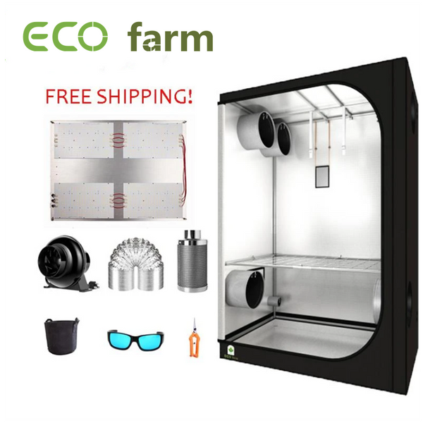 ECO Farm 5'x5' Essential Grow Tent Kit - 480W V3 Samsung 301H Chips Quantum Board