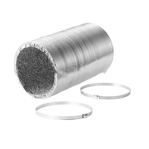 "ECO Farm 8"" Inline Fan Carbon Filter Ducting Muffler Grow Tent Ventilation Kit"