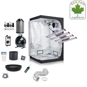 Eco Farm 4*2FT(48*24*80 Inch/ 120*60*200 CM) DIY Grow Package Indoor Grow Tent Complete Kit
