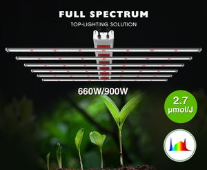 ECO Farm 660W/900W LED Light Strips With Samsung 301B+ Osram Chips Full Spectrum Greenhouse LED Grow Light