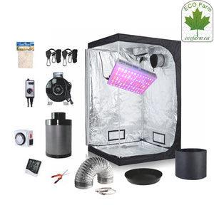 Eco Farm 4*4 FT(48*48*80 Inch/ 120*120*200 CM) DIY Grow Package Indoor Complete Kit Growing System