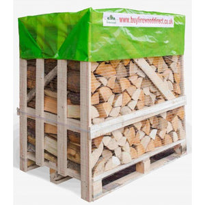 kiln dried hardwood logs large crate