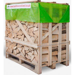 kiln dried ash oak firewood logs large crate