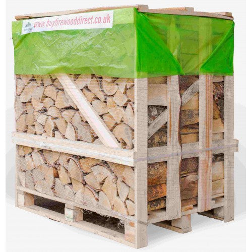 kiln dried birch firewood logs large crate