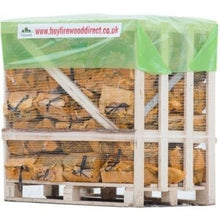 Load image into Gallery viewer, kiln dried hardwood firewood logs in bags half pallet 40 nets 22l