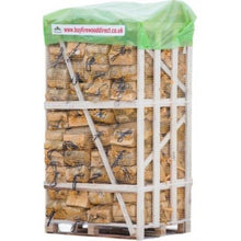 Load image into Gallery viewer, kiln dried birch firewood logs in bags 80 nets 22l