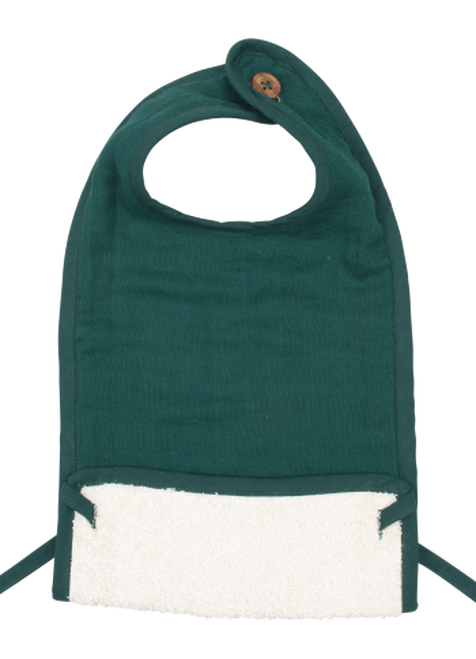Muslin Feeding Bib - Evergreen