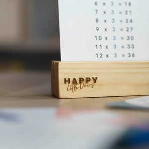 Wooden Flash Card Holder