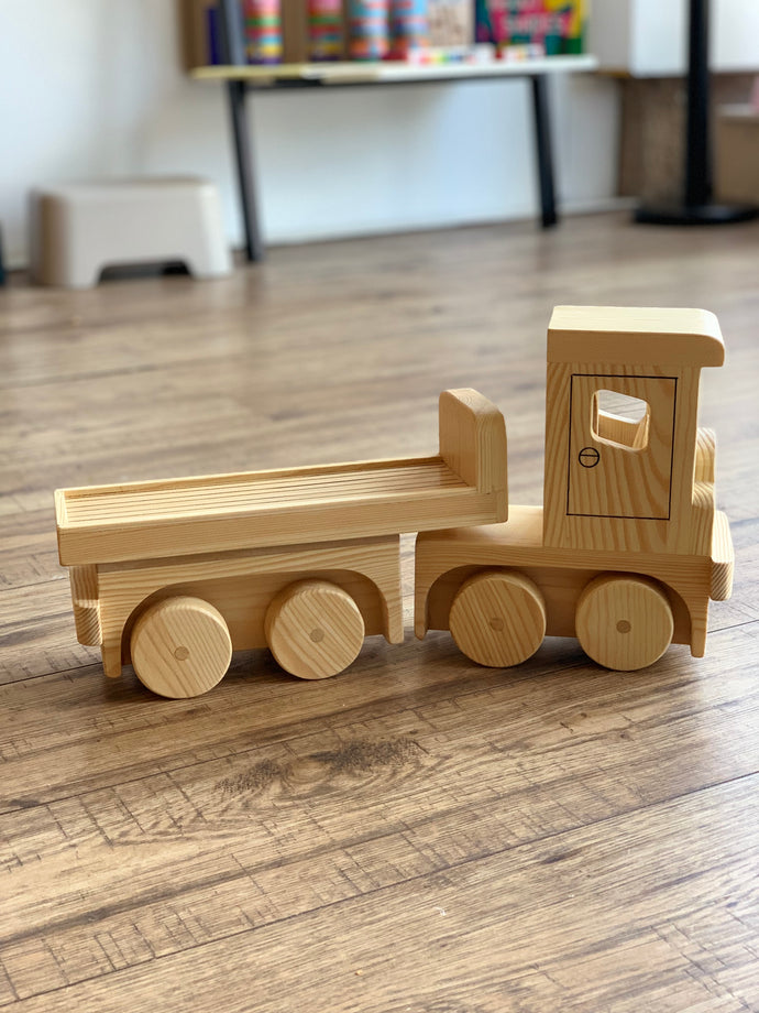 Handmade Wooden Truck with removable trailer Derek Orme Small Stuff UK