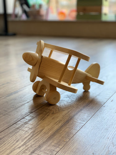 Handmade Wooden Plane - Bi Plane Derek Orme Small Stuff UK