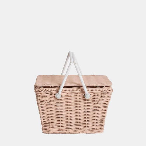 Piki Rattan Basket Rose