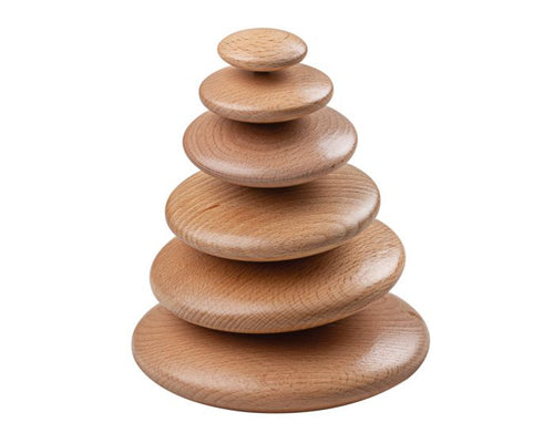 Natural Wood Stacking Pebbles