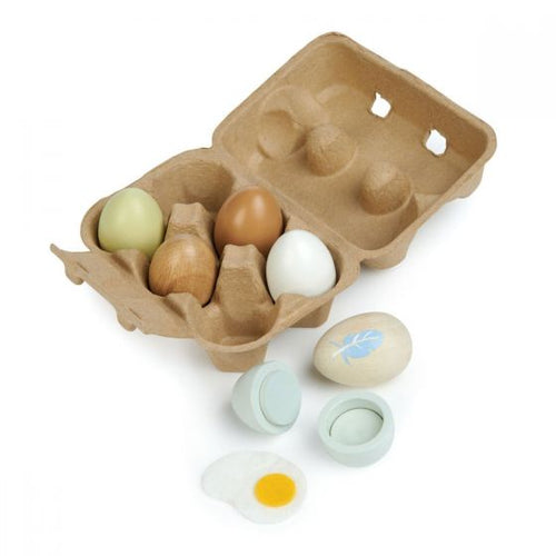 Wooden Eggs Tender leaf Small Stuff UK