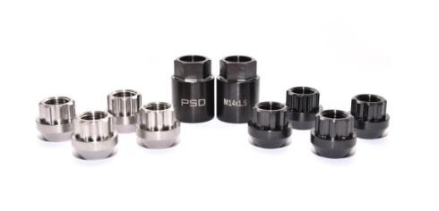 PSDesigns Black-Line Titanium Locking Wheel Nuts M14x1.5mm