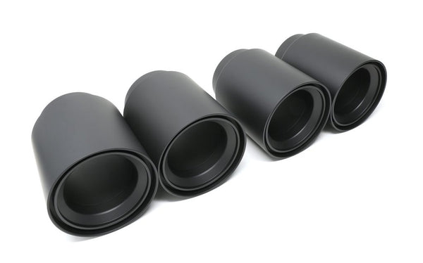 Black ceramic BMS straight Cut F8x M2/M2C/M3/M4 Billet Exhaust Tips (set of 4)