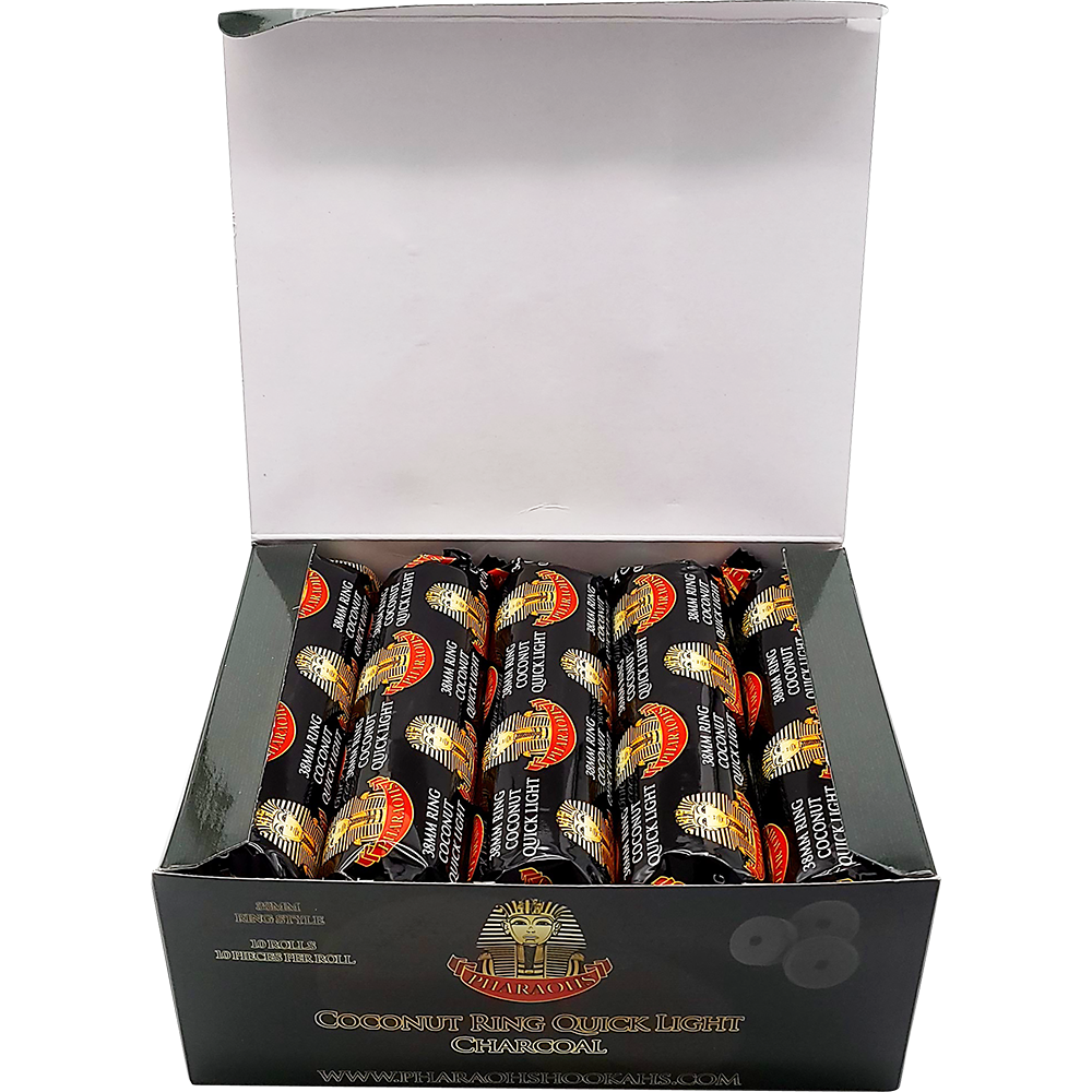Coconut Ring Quick Light Charcoal - 38mm - Pharaohs Hookahs